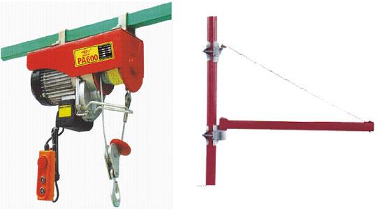 微型电动葫芦固定在支架上使用图 微型电动葫芦安装在工字钢上面行走图   加配无线遥控器微型电动葫芦 微型电动葫芦支架 微型电动葫芦又叫民用电动葫芦或小型电动葫芦。微型电动葫芦的最小的起重量是100KG,最大起重量是1000KG。单勾提升高度最高可至25米。双钩最高可提升至12米。特别适用于高层楼房的住户能方便地从楼下吊起不方便人工搬运的生活用品,并适用于各种场合吊卸小件货物。加上其安装方便 和单相电220V作为动力源,用途十分广泛。这种民用电动葫芦被广泛应用于机械制造、电子、汽车、造船、工件总装以及高新